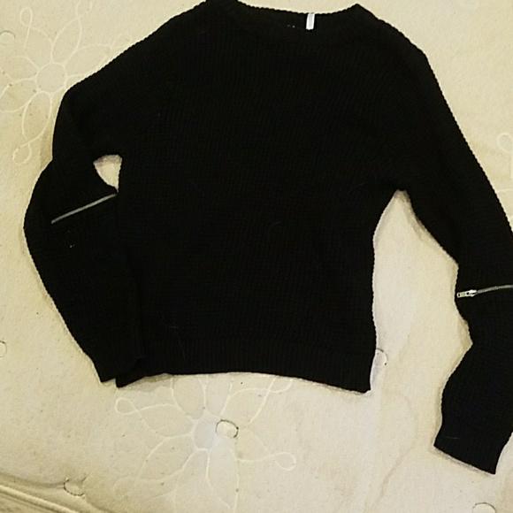free press Sweaters - Size Black XS Free Press Waffle Sweater